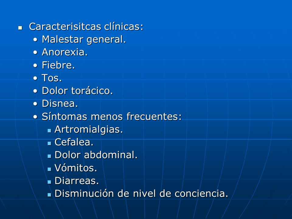 Caracterisitcas clínicas:
