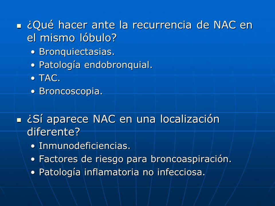 ¿Qué hacer ante la recurrencia de NAC en el mismo lóbulo