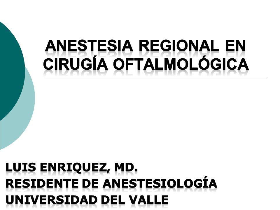 Anestesia regional en cirugía oftalmológica