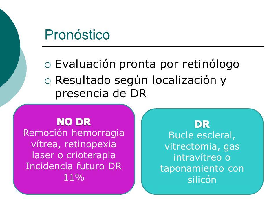 Remoción hemorragia vítrea, retinopexia laser o crioterapia