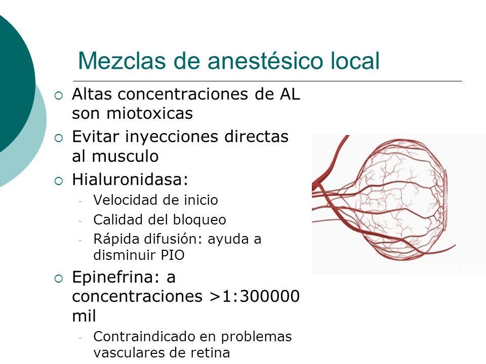 Mezclas de anestésico local