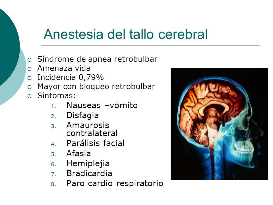 Anestesia del tallo cerebral
