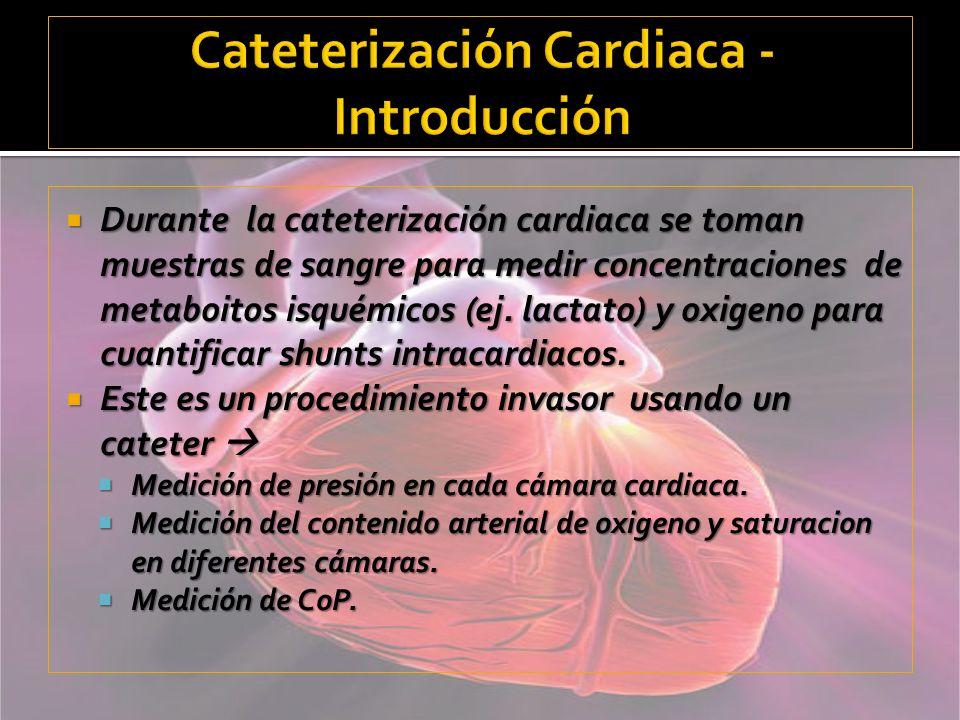 Cateterización Cardiaca -Introducción