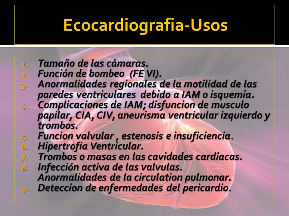 Ecocardiografia-Usos