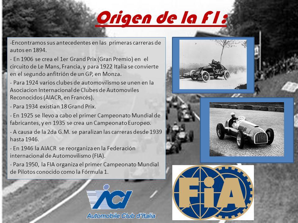 Origen de la F1: Encontramos sus antecedentes en las primeras carreras de autos en 1894.