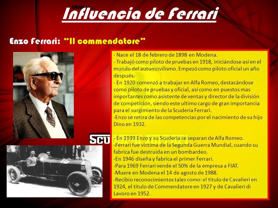 Influencia de Ferrari Enzo Ferrari: Il commendatore