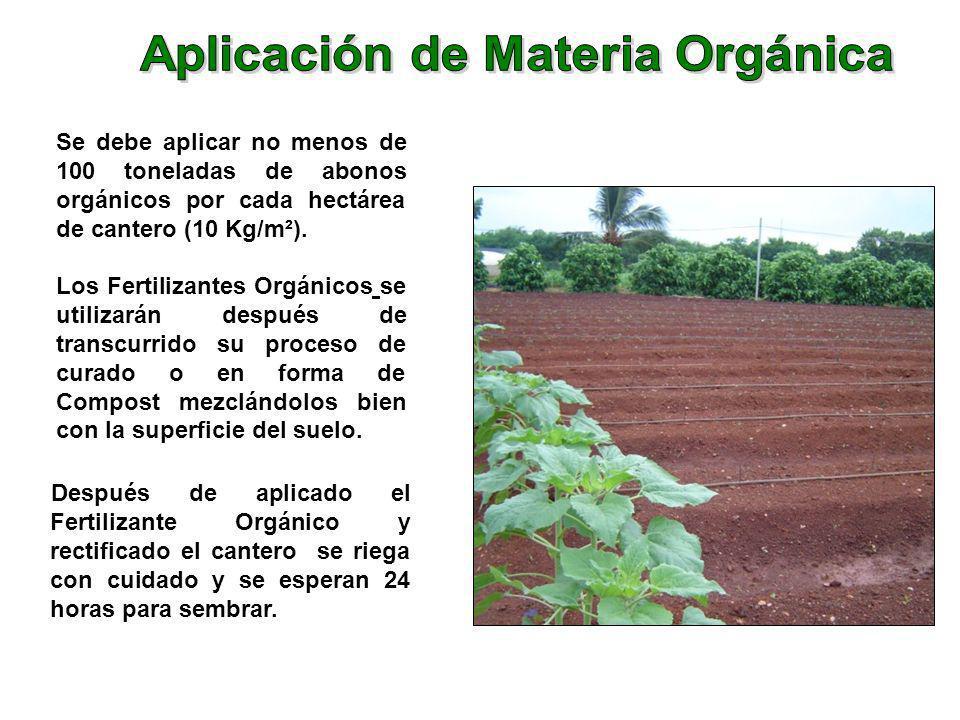 Aplicación de Materia Orgánica
