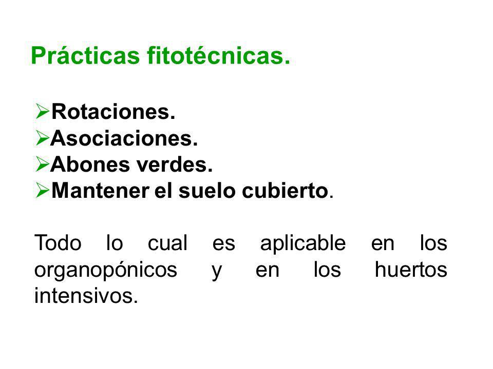Prácticas fitotécnicas.
