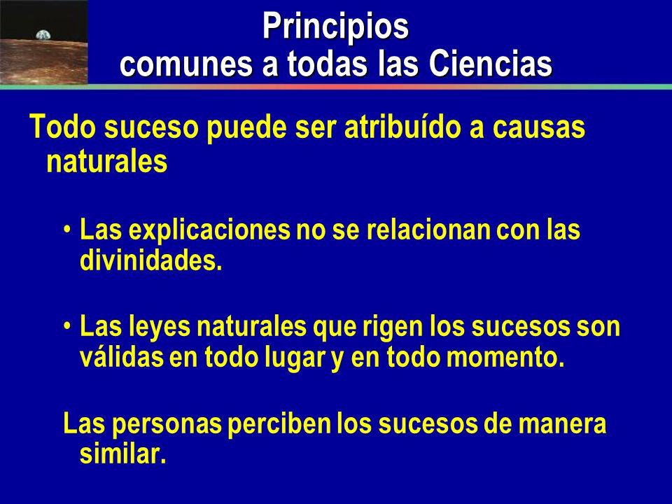 Principios comunes a todas las Ciencias