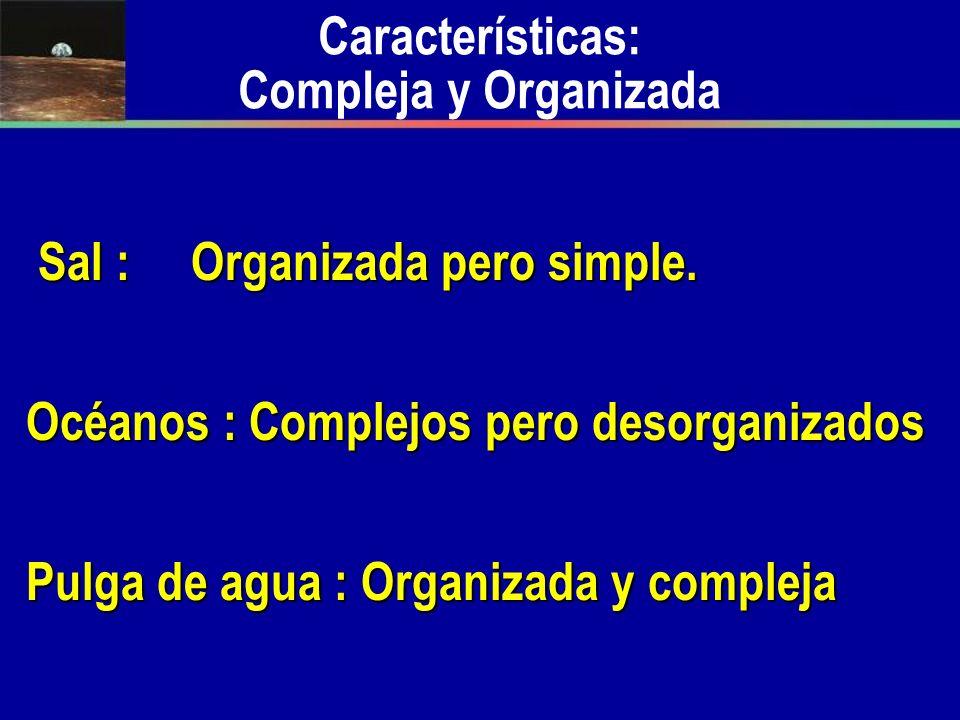Características: Compleja y Organizada