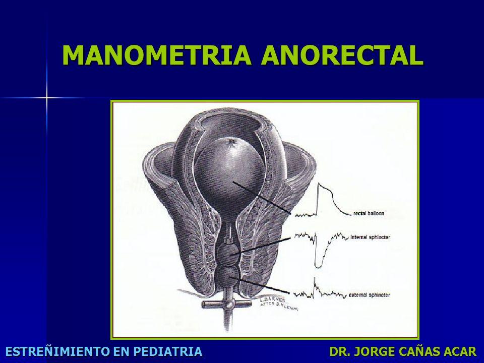 MANOMETRIA ANORECTAL ESTREÑIMIENTO EN PEDIATRIA DR. JORGE CAÑAS ACAR