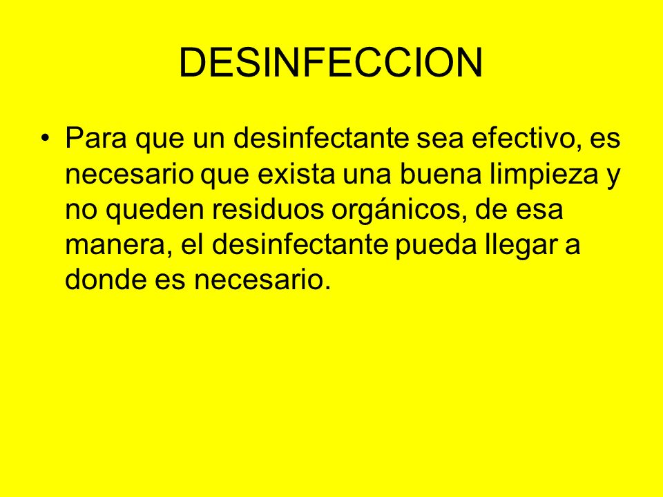 DESINFECCION