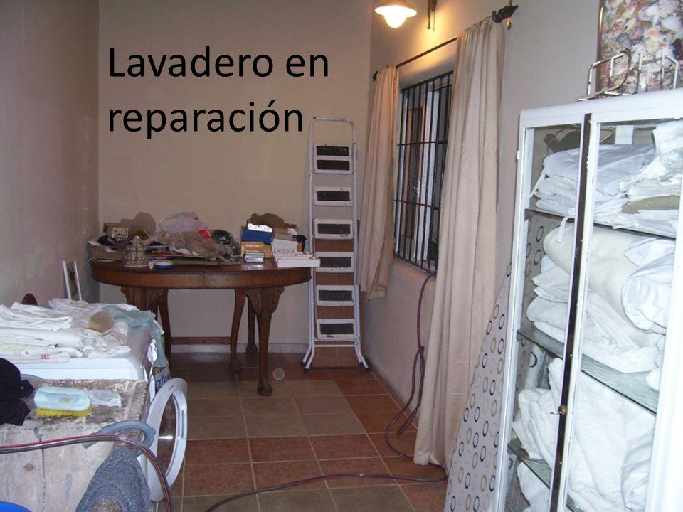 Lavadero en reparación