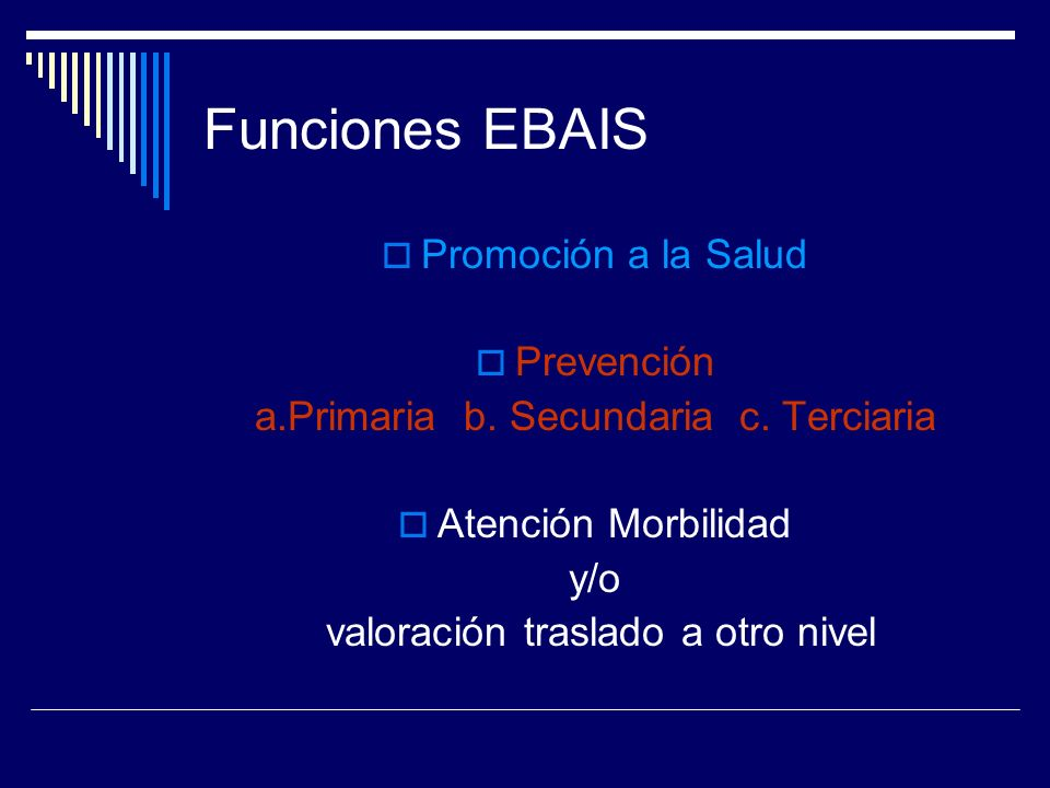Funciones EBAIS Promoción a la Salud Prevención