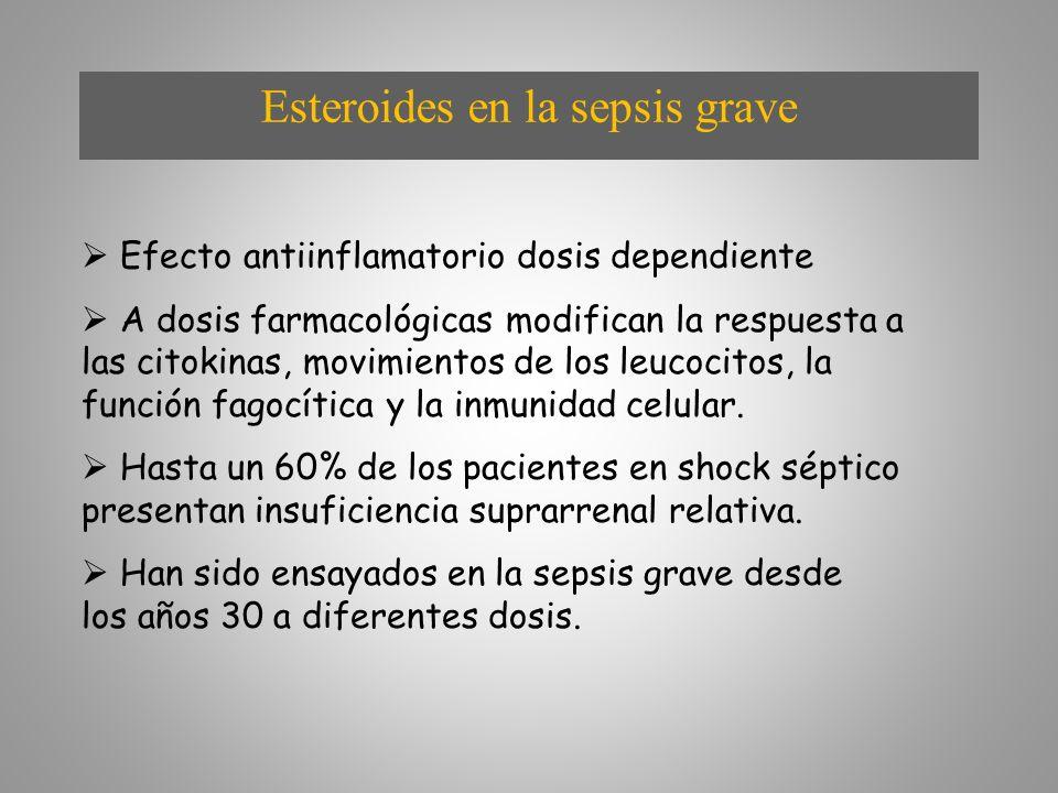 Esteroides en la sepsis grave