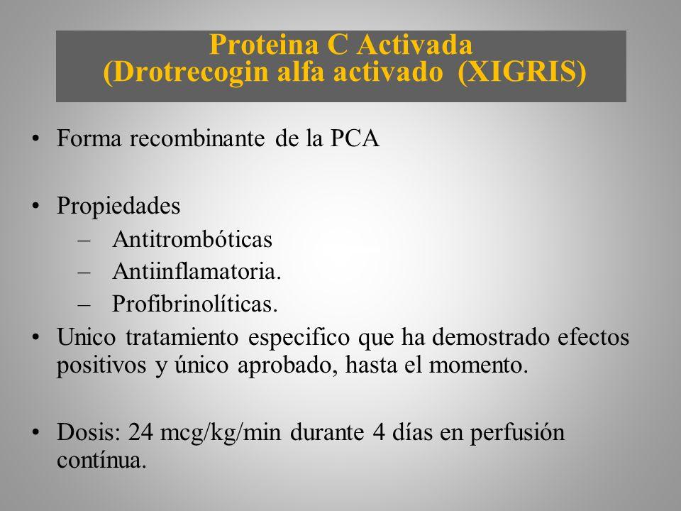 Proteina C Activada (Drotrecogin alfa activado (XIGRIS)