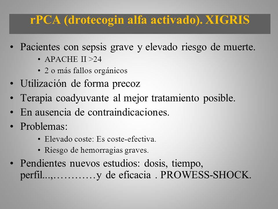 rPCA (drotecogin alfa activado). XIGRIS