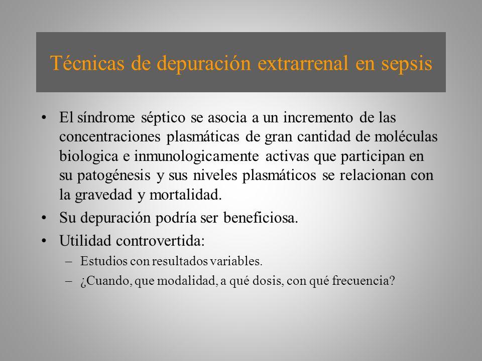 Técnicas de depuración extrarrenal en sepsis