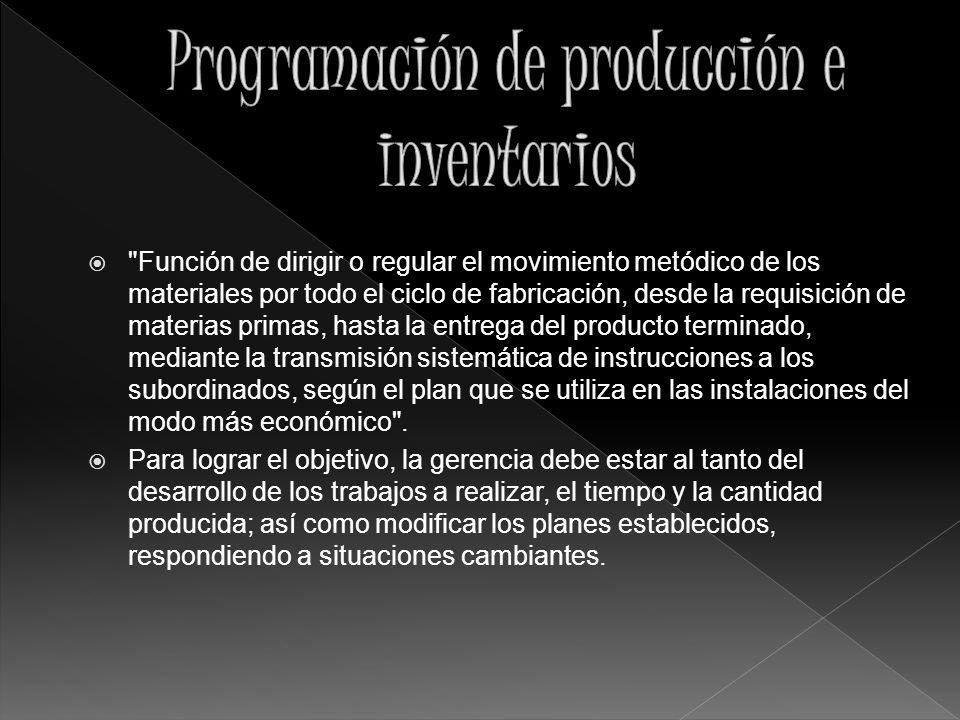 Programación de producción e inventarios