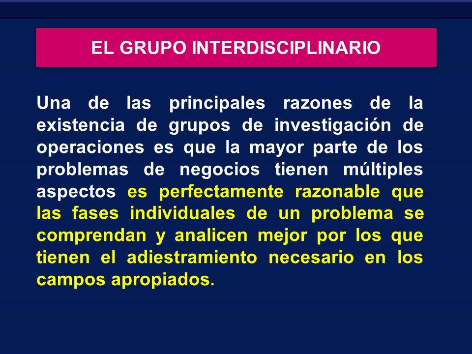 EL GRUPO INTERDISCIPLINARIO