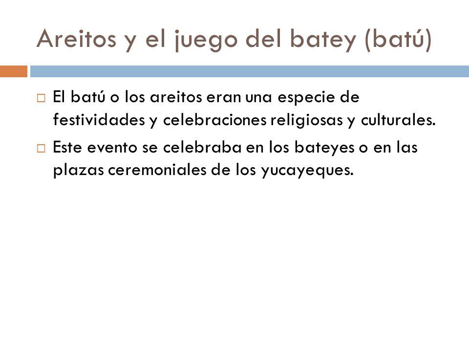 Areitos y el juego del batey (batú)