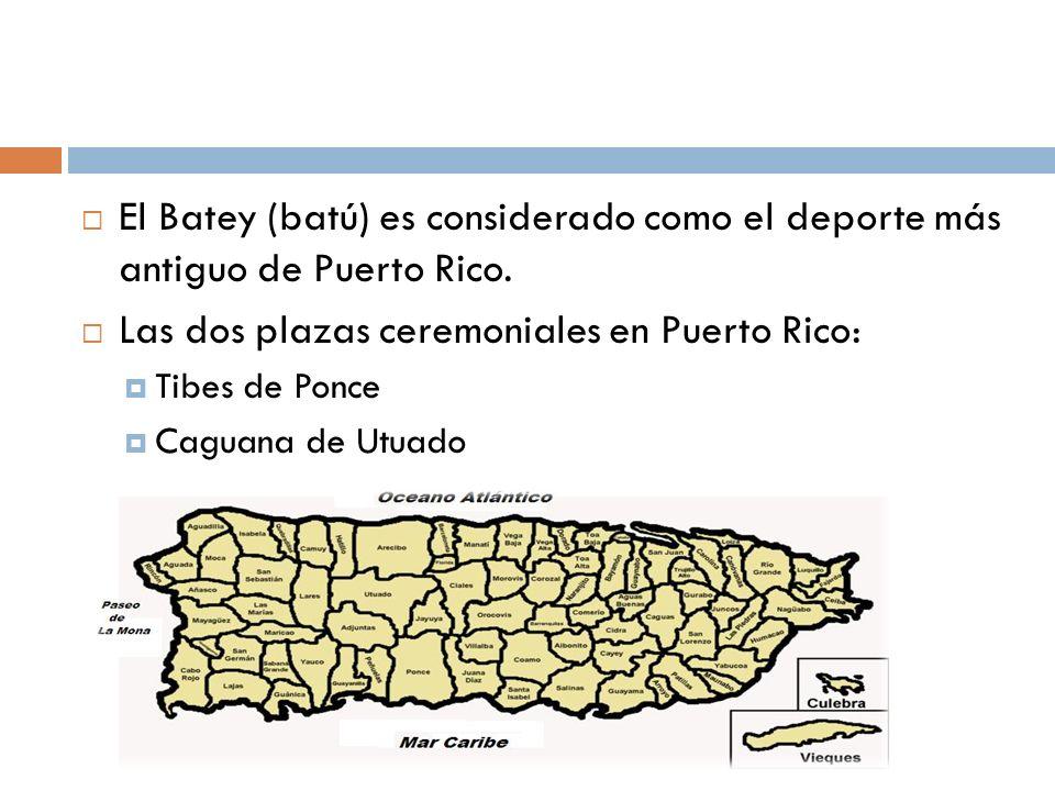 Las dos plazas ceremoniales en Puerto Rico: