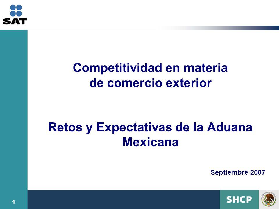 Competitividad en materia de comercio exterior Retos y Expectativas de la Aduana Mexicana