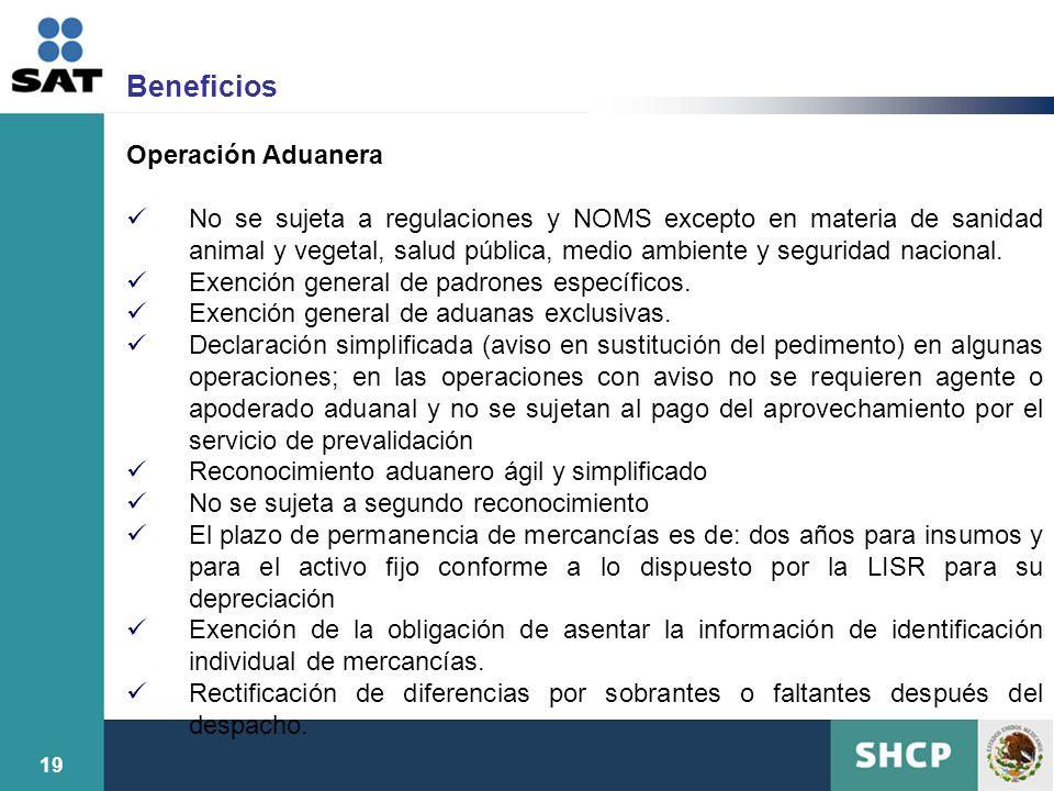 Beneficios Operación Aduanera