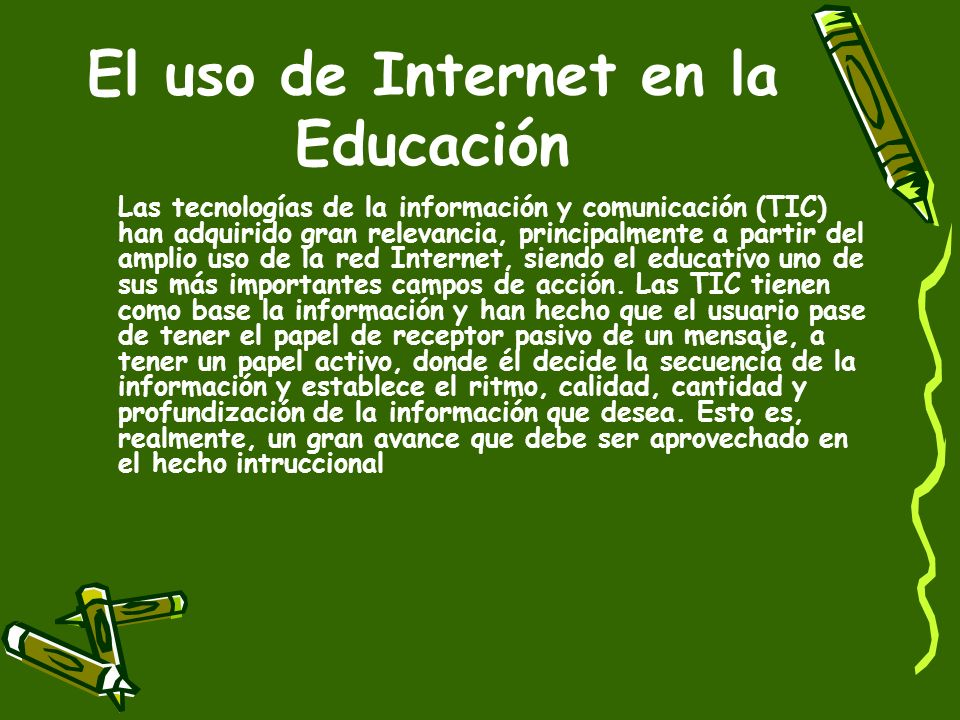 El uso de Internet en la Educación