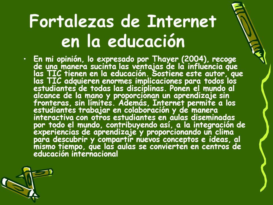 Fortalezas de Internet en la educación