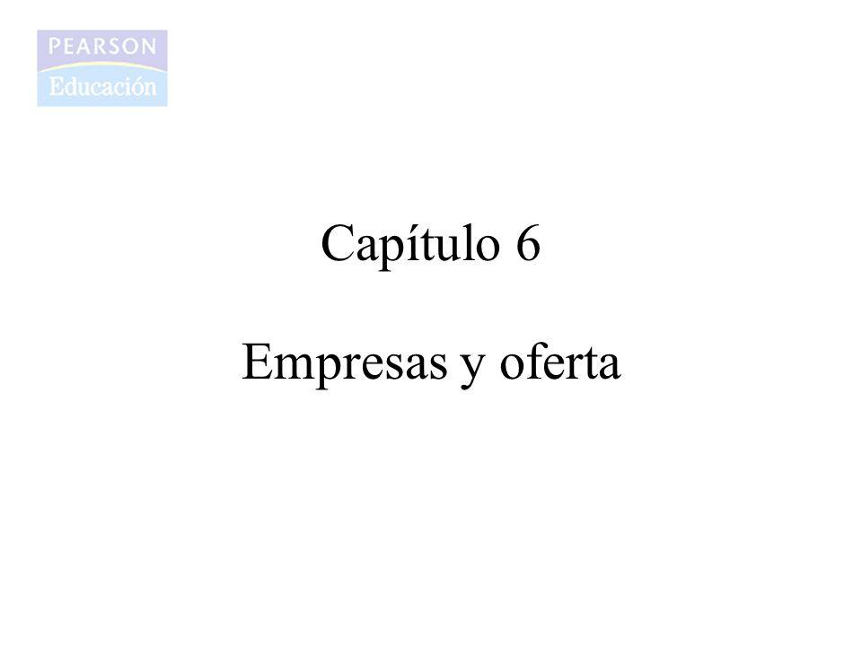 Capítulo 6 Empresas y oferta