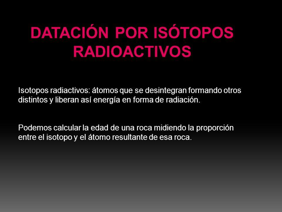 DATACIÓN POR ISÓTOPOS RADIOACTIVOS