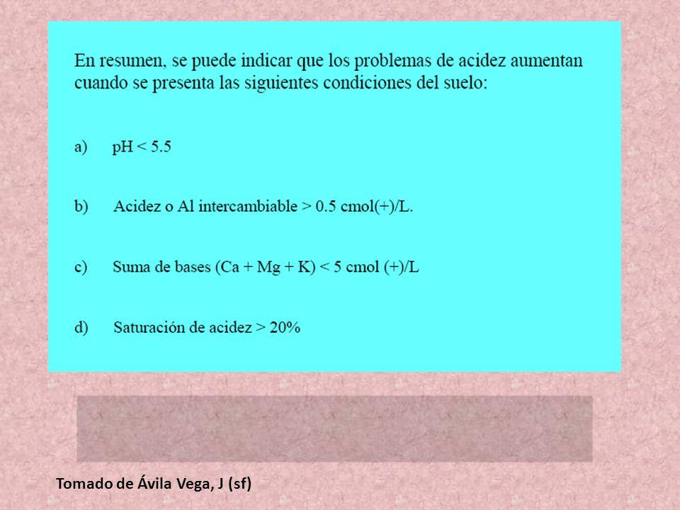 Tomado de Ávila Vega, J (sf)