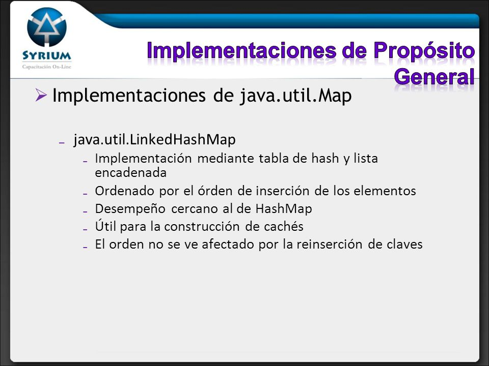 Implementaciones de Propósito General