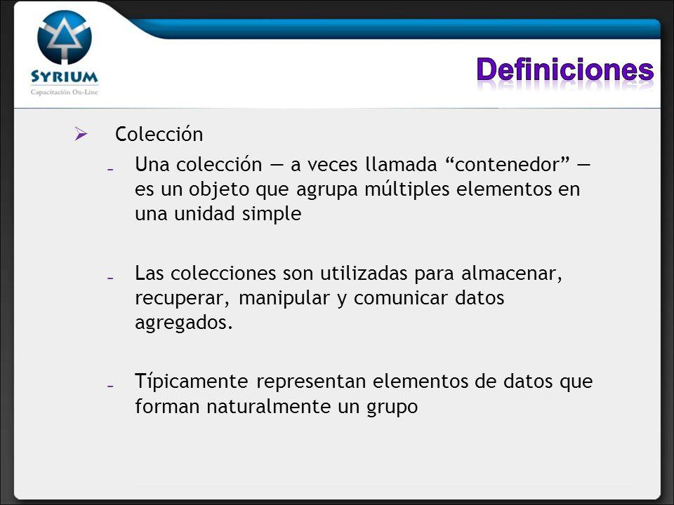 Definiciones Colección