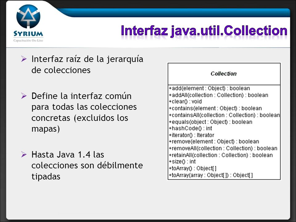 Interfaz java.util.Collection