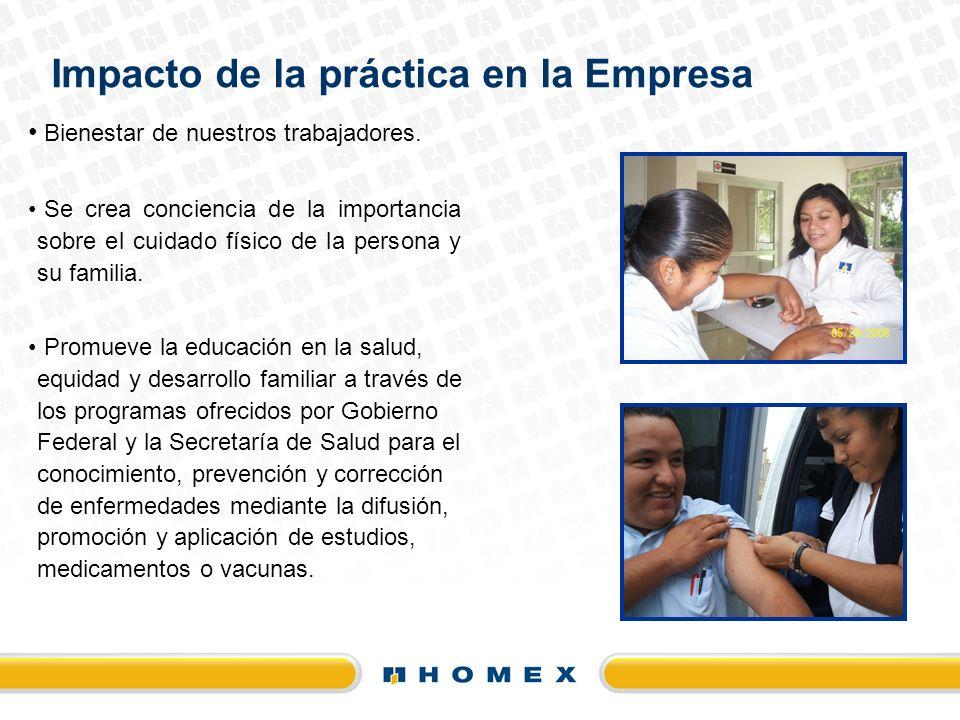 Impacto de la práctica en la Empresa