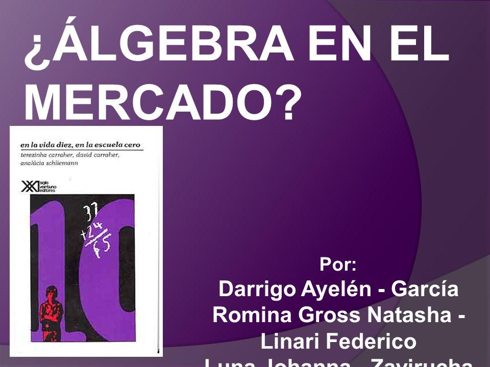 ¿ÁLGEBRA EN EL MERCADO. Por: Darrigo Ayelén - García Romina Gross Natasha - Linari Federico.