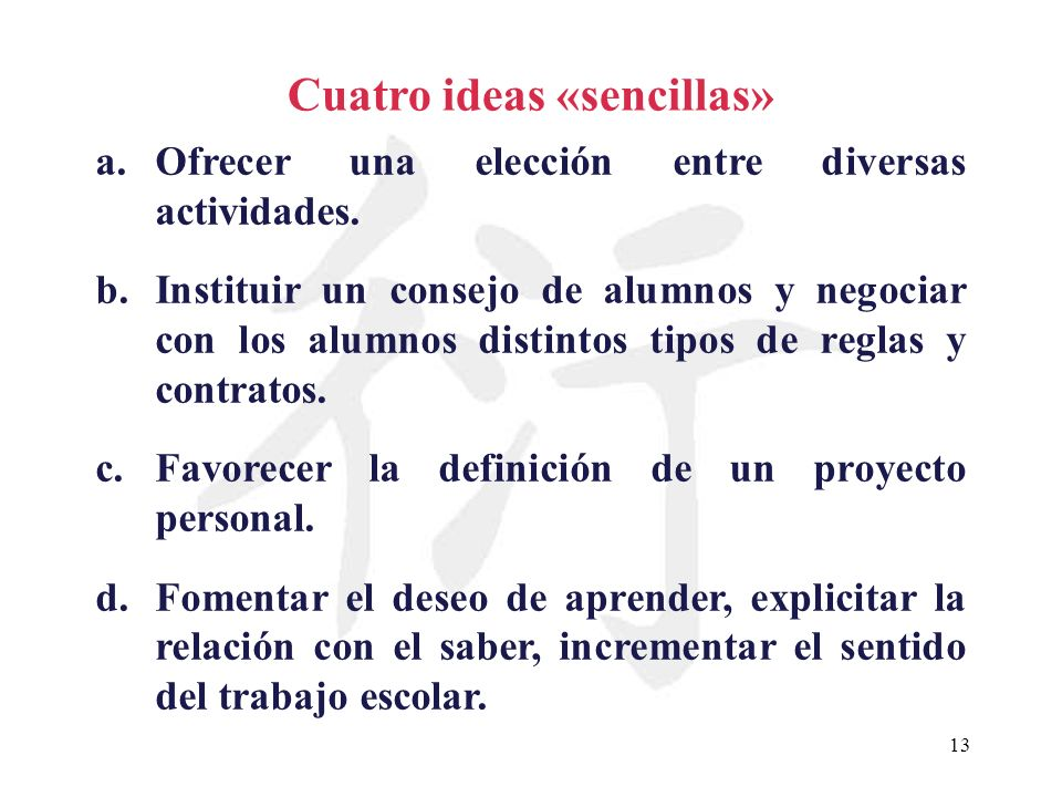 Cuatro ideas «sencillas»
