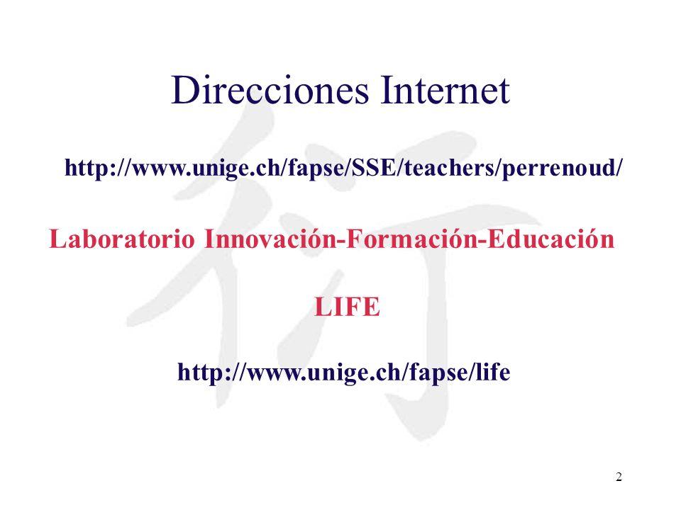 Direcciones Internet Laboratorio Innovación-Formación-Educación LIFE
