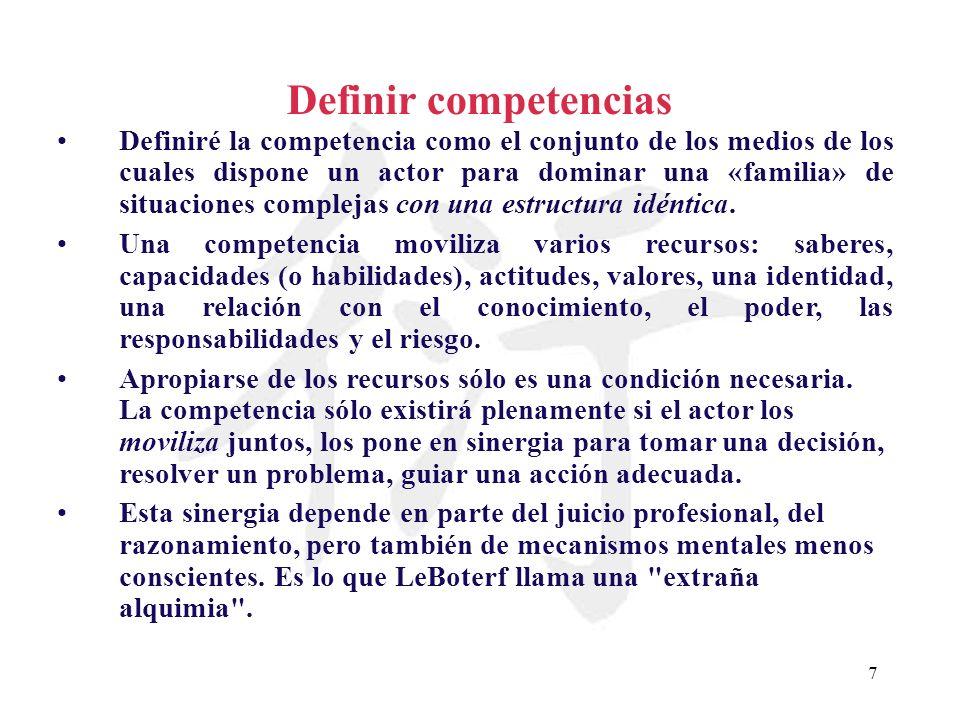 Definir competencias