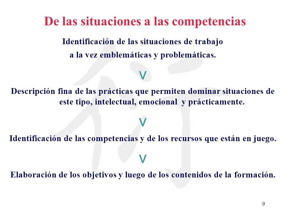 v De las situaciones a las competencias