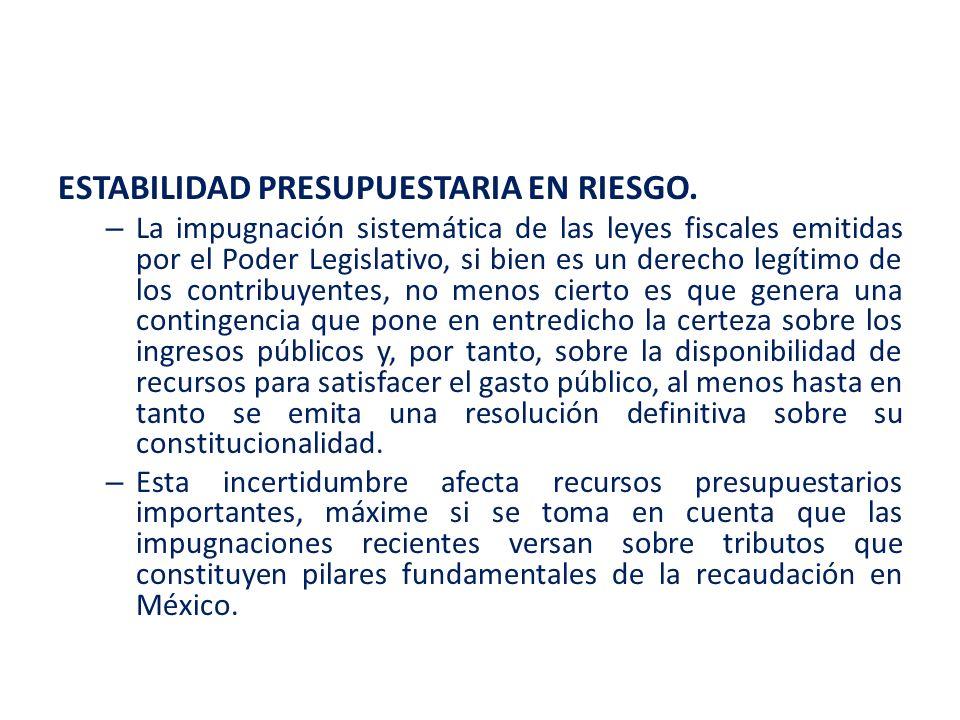 ESTABILIDAD PRESUPUESTARIA EN RIESGO.