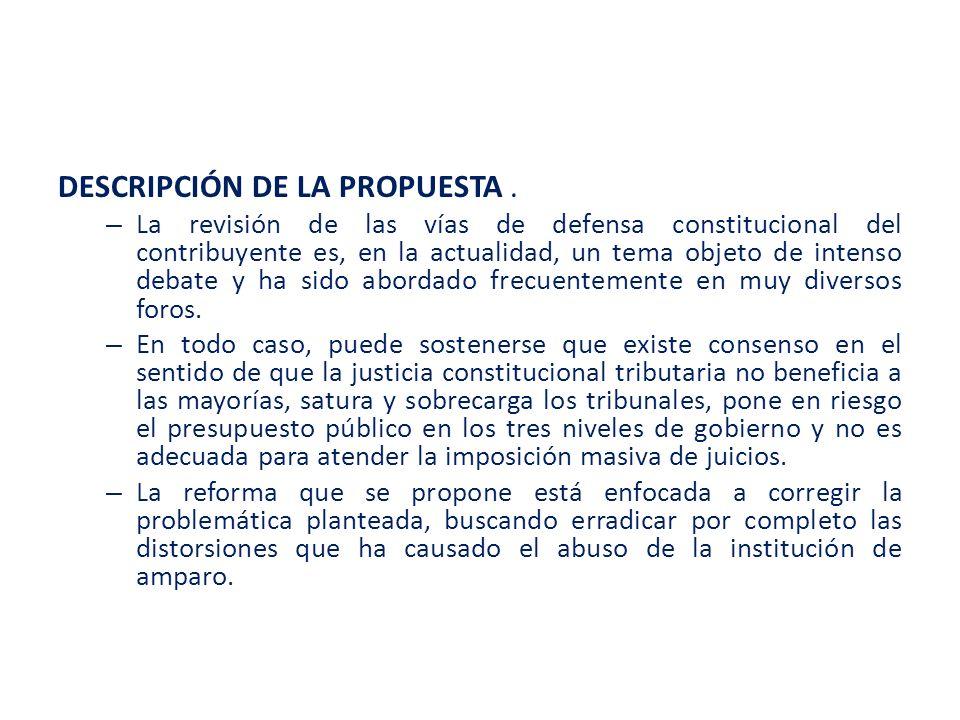 DESCRIPCIÓN DE LA PROPUESTA .