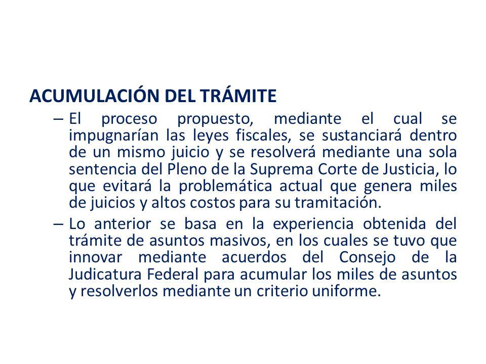ACUMULACIÓN DEL TRÁMITE