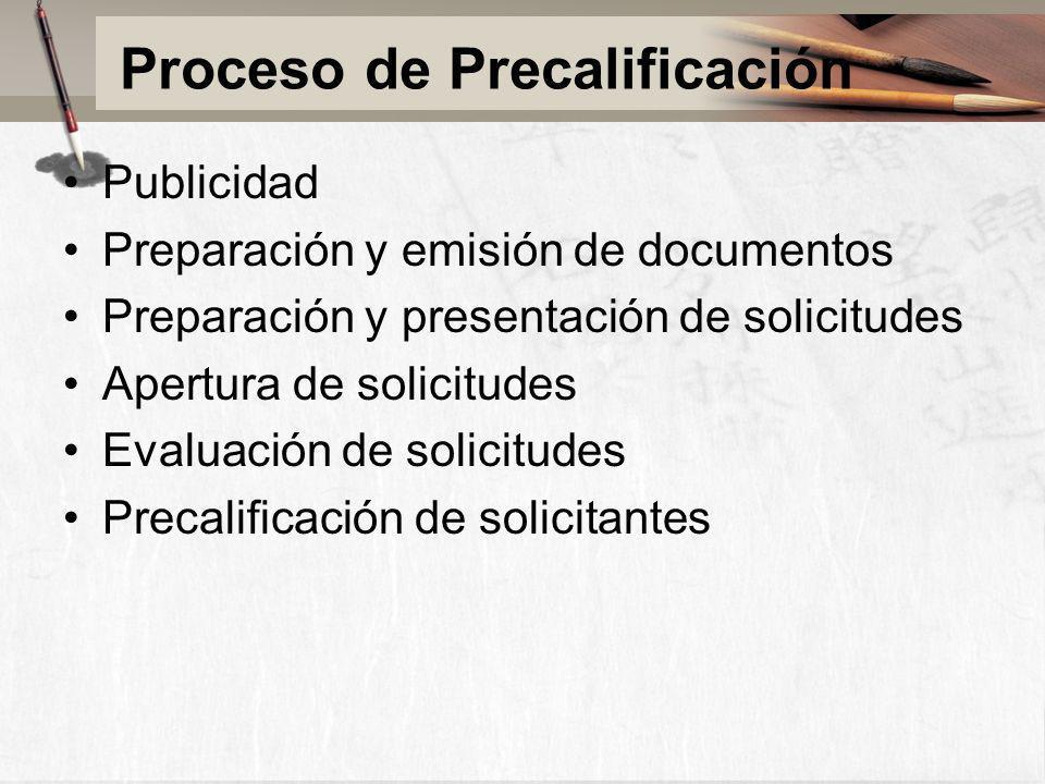Proceso de Precalificación