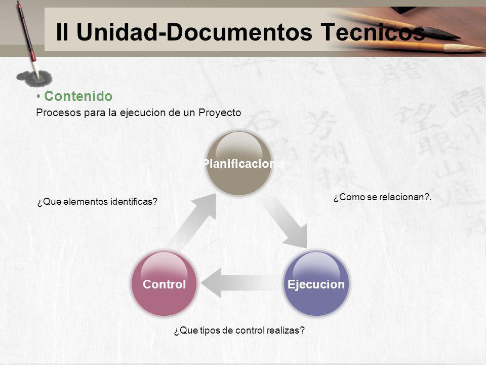 II Unidad-Documentos Tecnicos