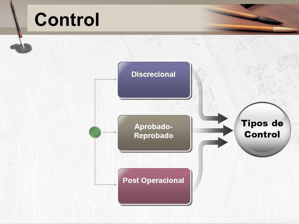 Control Tipos de Control Discrecional Aprobado-Reprobado