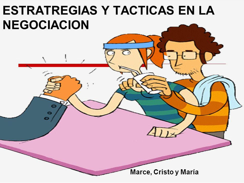 ESTRATREGIAS Y TACTICAS EN LA NEGOCIACION
