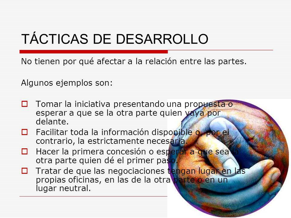 TÁCTICAS DE DESARROLLO